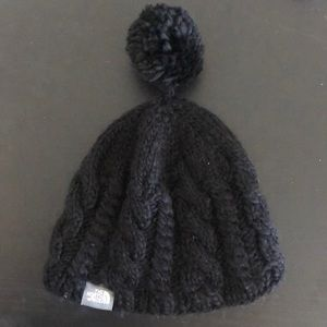 Accessories - Knit North Face Hat With Pom Pom